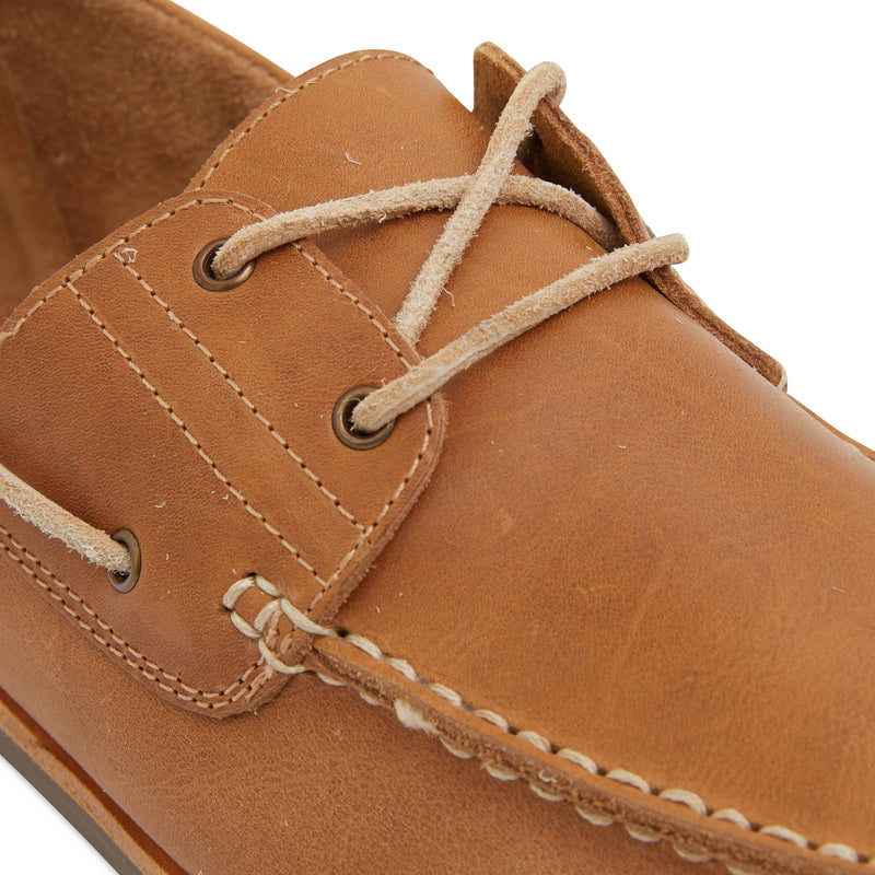 Billi II tan leather boat shoes for men 4