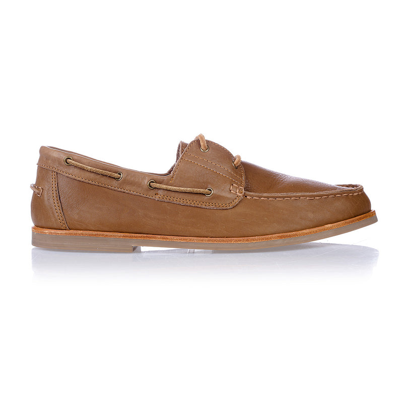 Billi tan leather boat shoes for men