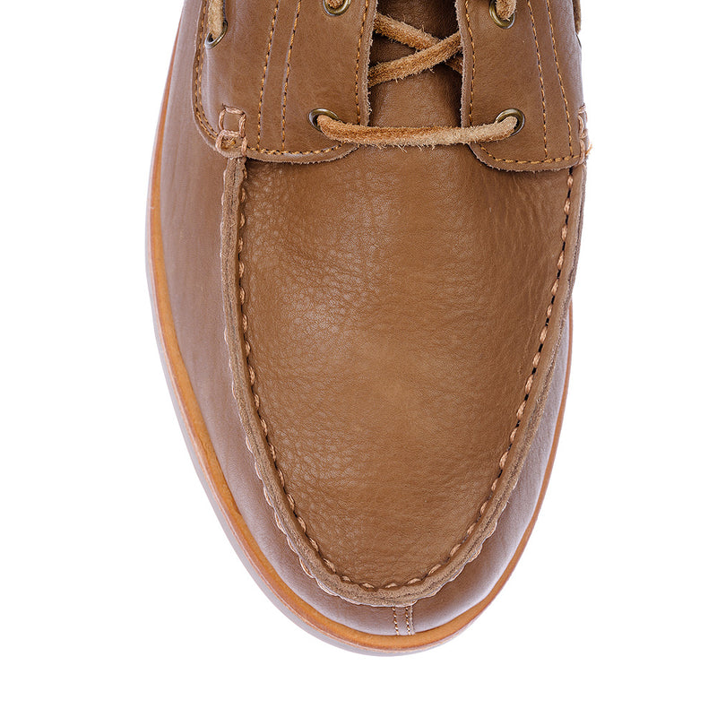 Billi tan leather boat shoes for men2