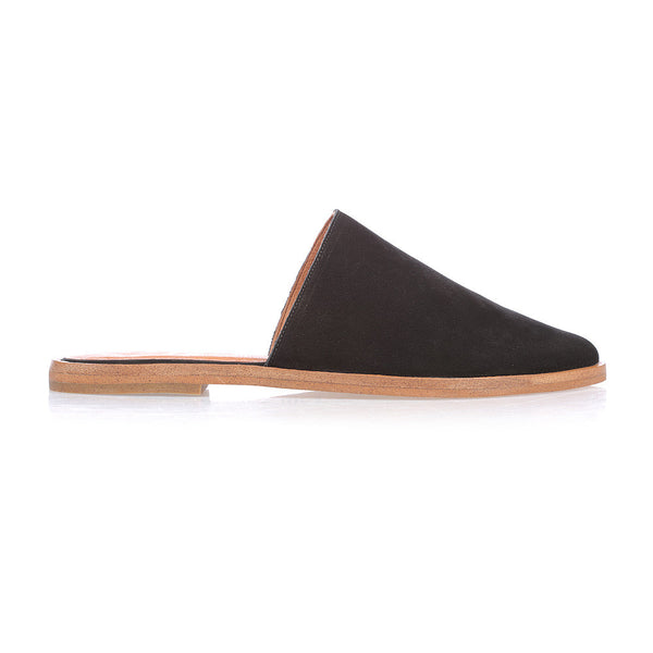 BLISS - BLACK LEATHER FLAT