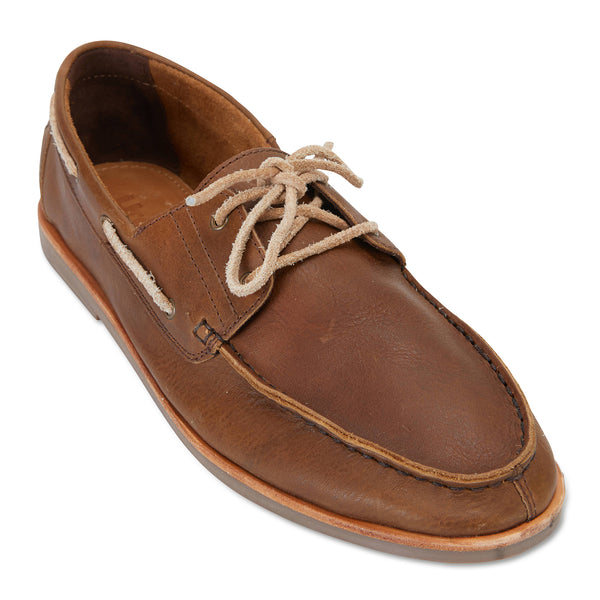 Billi espresso leather boat shoes for men 1