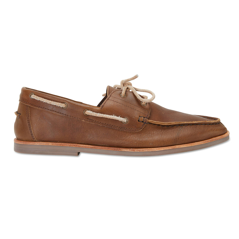 Billi espresso leather boat shoes for men