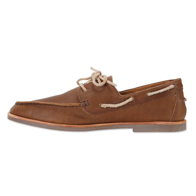 Billi espresso leather boat shoes for men 3
