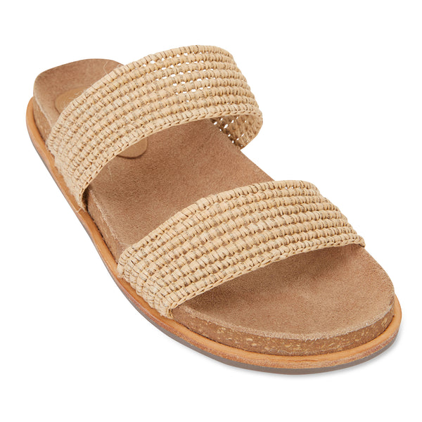 Bindi natural raffia womens slide 1