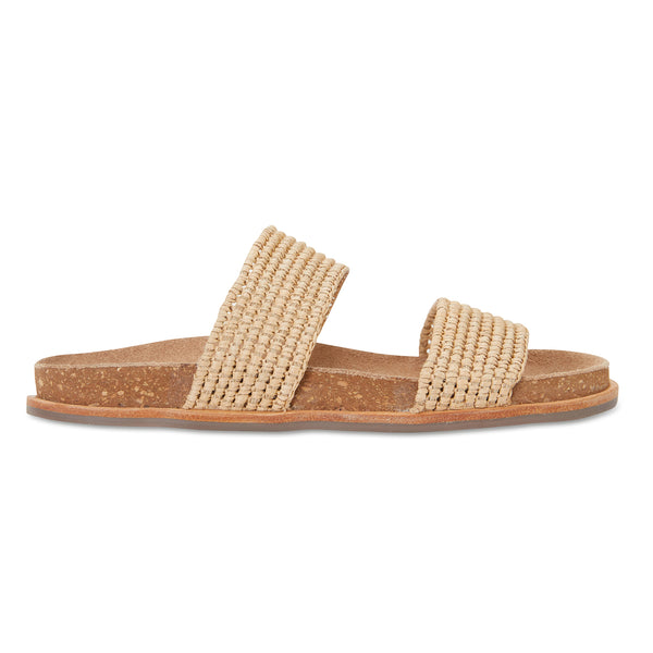 Bindi natural raffia womens slide