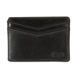 Credit card holder black leather