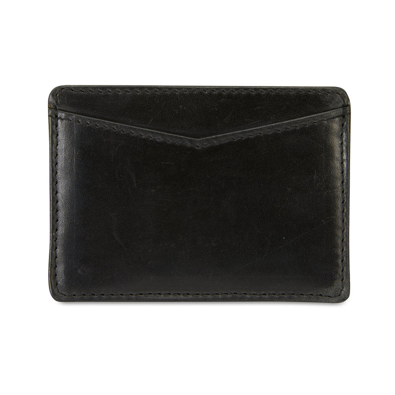 Credit card holder black leather 1