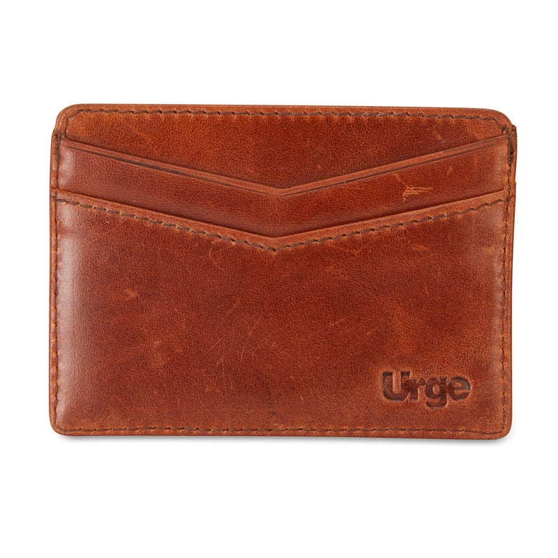 Credit card holder tan leather `