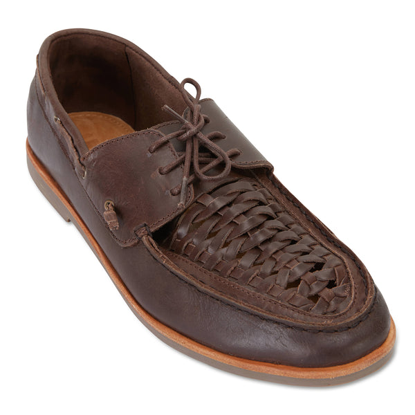 Costa chocolate laceup leather men shoes 1