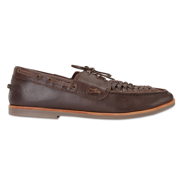 Costa chocolate laceup leather men shoes
