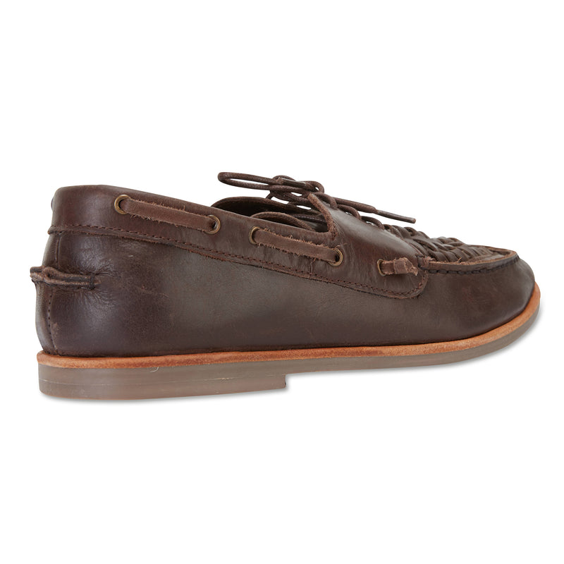 Costa chocolate laceup leather men shoes 2