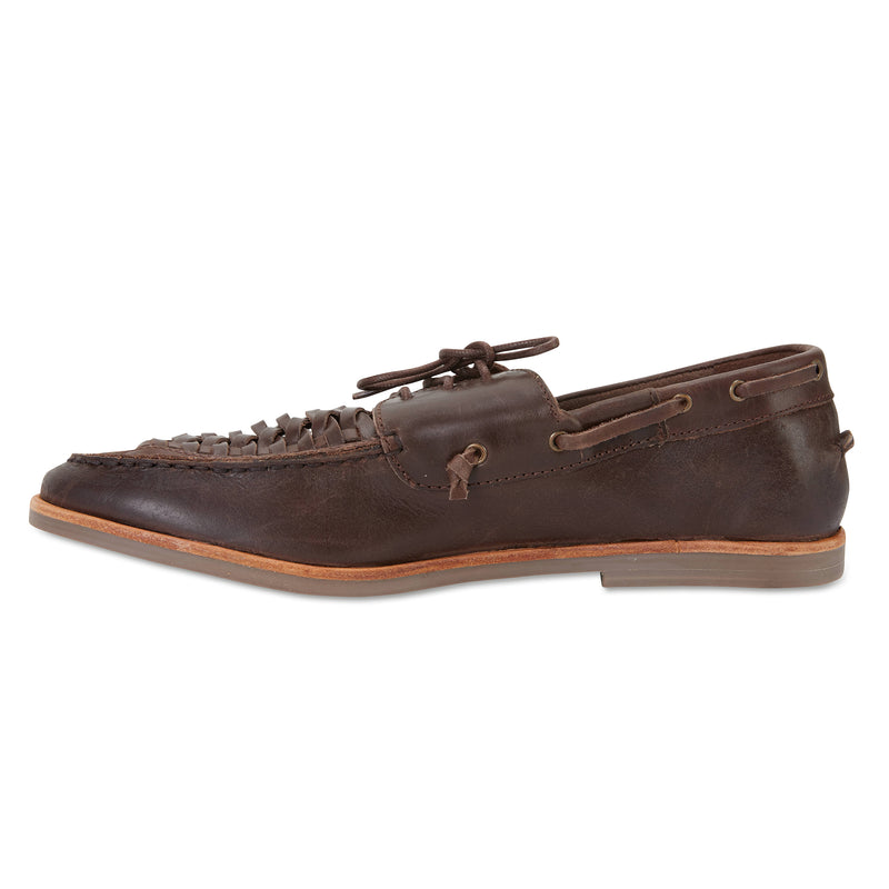 Costa chocolate laceup leather men shoes 3