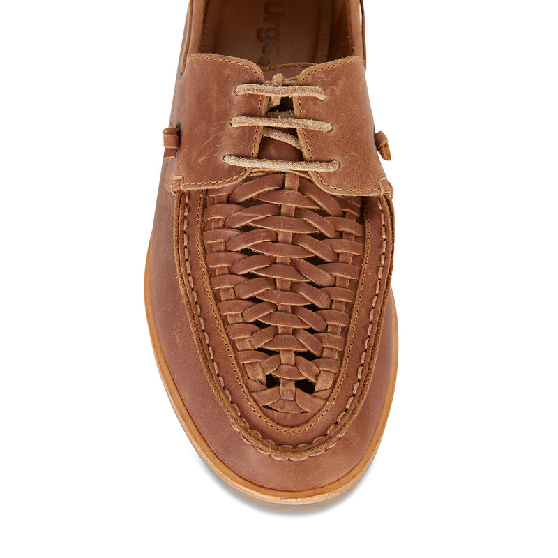 Costa mocha laceup leather men shoes 2