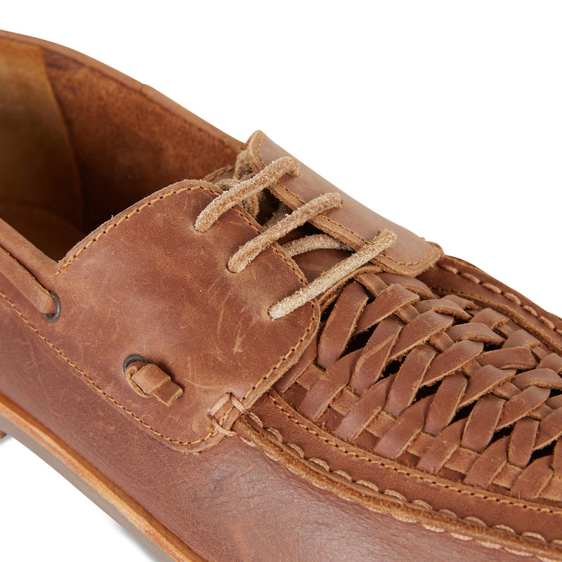 Costa mocha laceup leather men shoes 4
