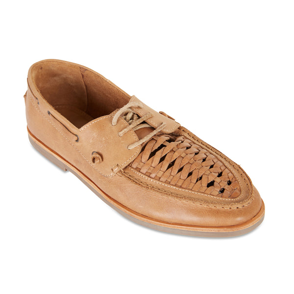 Costa tan laceup leather men shoes 1