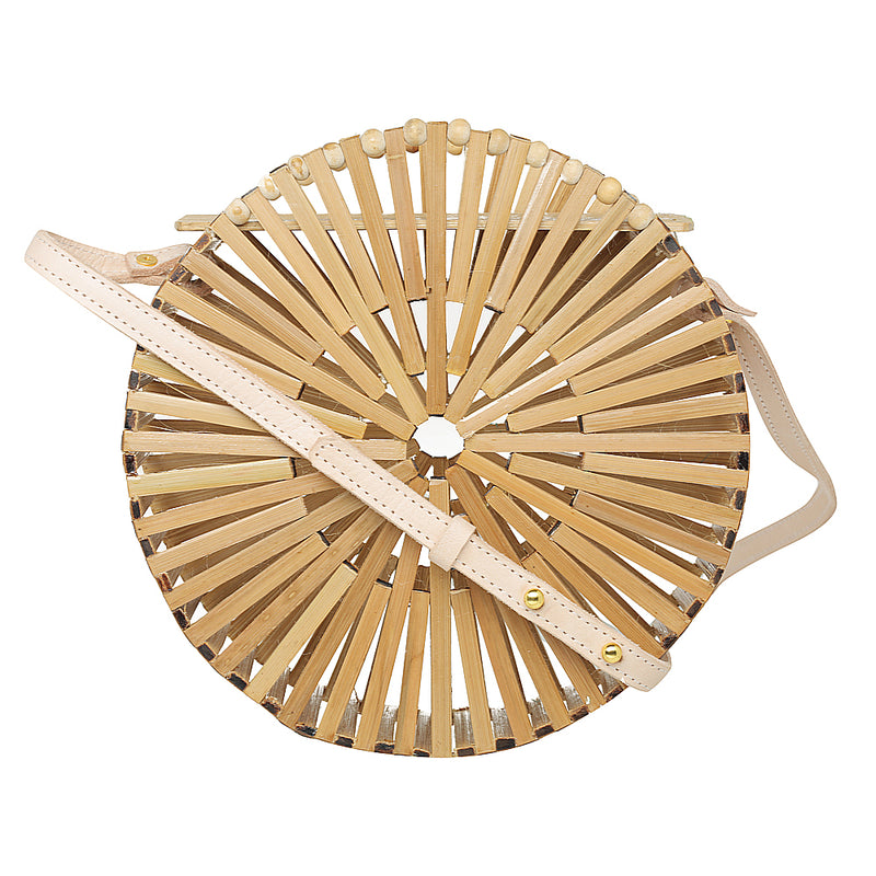 Elfi round cage bag made with bamboo womens 1