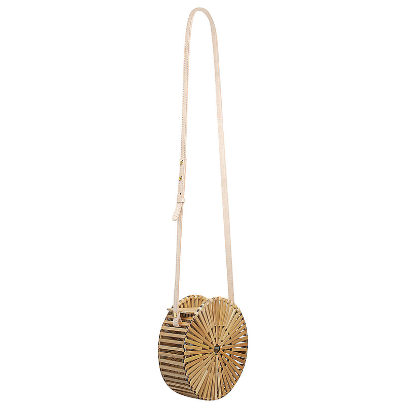 Elfi round cage bag made with bamboo womens