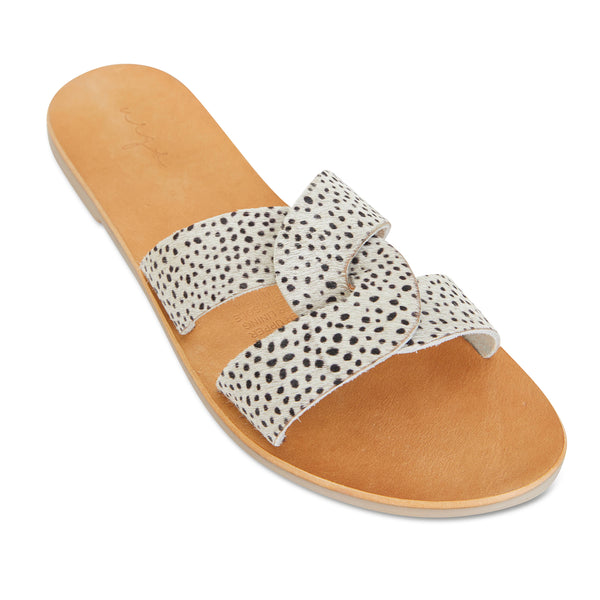 Jinni cheetah pony leather slides for women 1