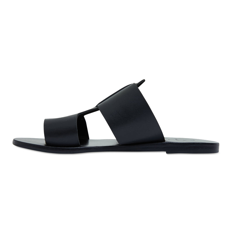 Jordan all over black leather slides for women 3