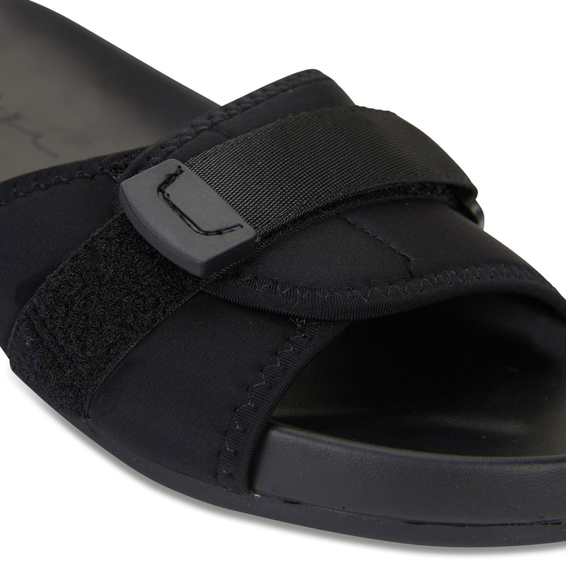 Kyoto black pool slide for women 3