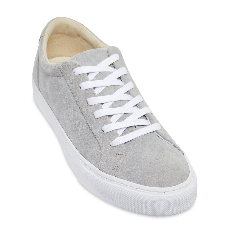 Letty natural grey suede men's sneakers with white sole 1