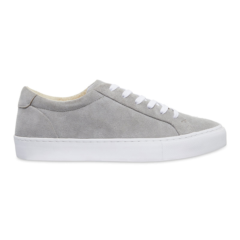 Letty natural grey suede men's sneakers with white sole