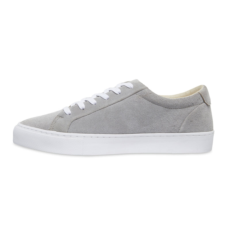 Letty natural grey suede men's sneakers with white sole 2