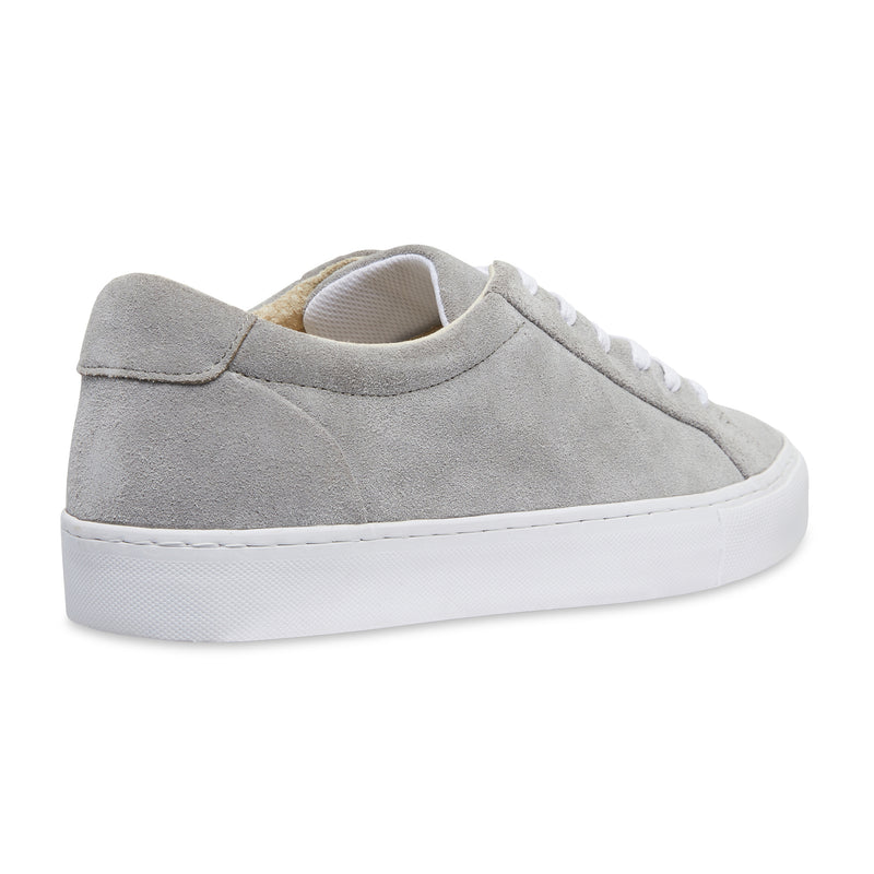 Letty natural grey suede men's sneakers with white sole 3