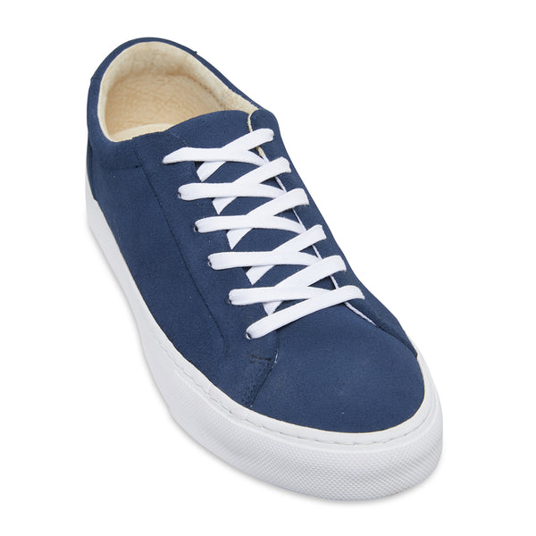 Letty navy blue suede men's sneakers with white sole 1