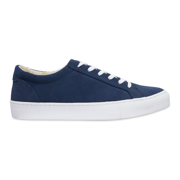 Letty navy blue suede men's sneakers with white sole