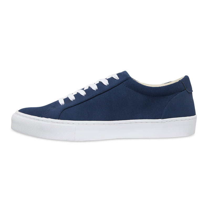Letty navy blue suede men's sneakers with white sole 2