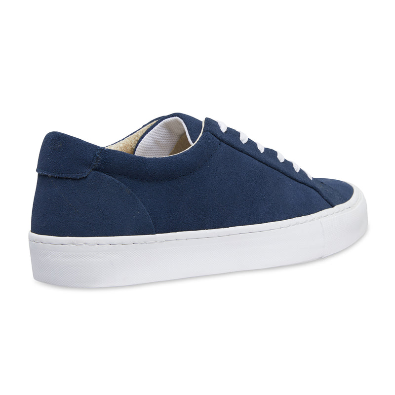 Letty navy blue suede men's sneakers with white sole 3