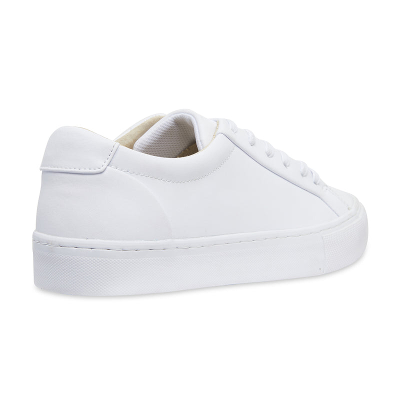 Letty smooth white leather men's sneakers with white sole 3