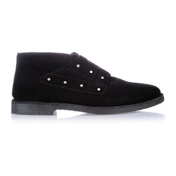 Liam black suede boots for men