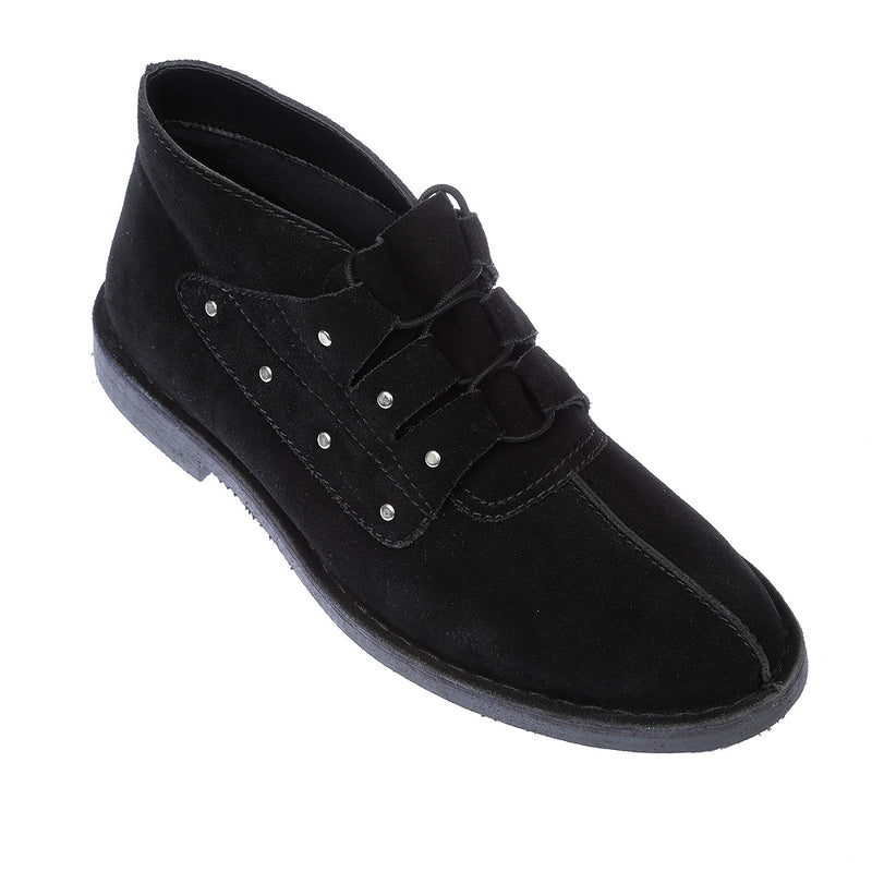 Liam black suede boots for men 1