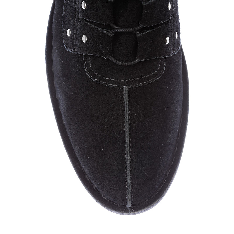 Liam black suede boots for men 2