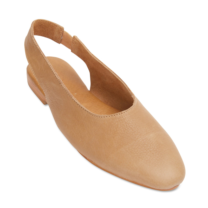 Liv tan leather slingback shoes 2