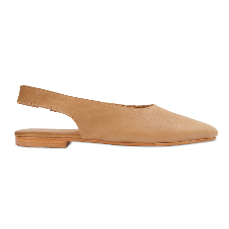 Liv tan leather slingback shoes
