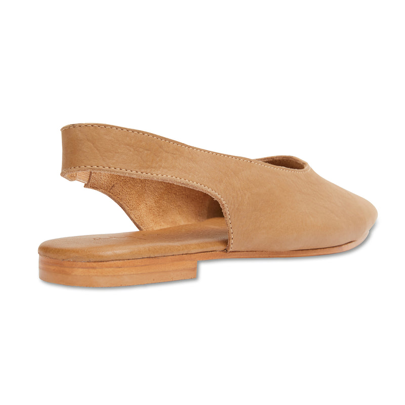 Liv tan leather slingback shoes 3