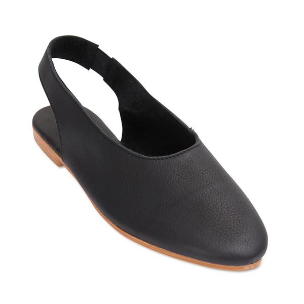 Liv black leather slingback shoes 1