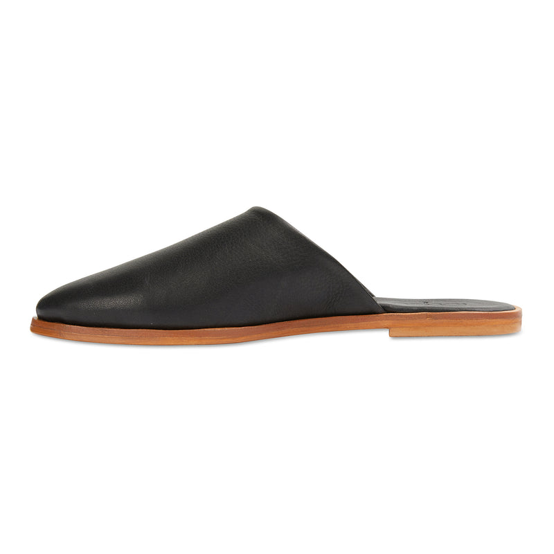 Loui black milled leather mules with almond toe shape 2
