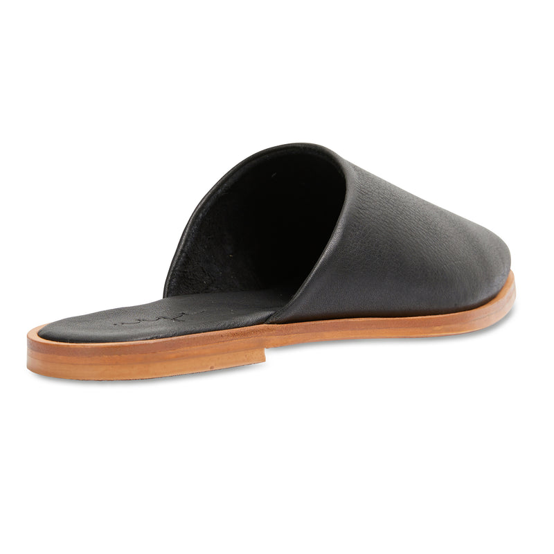 Loui black milled leather mules with almond toe shape 3