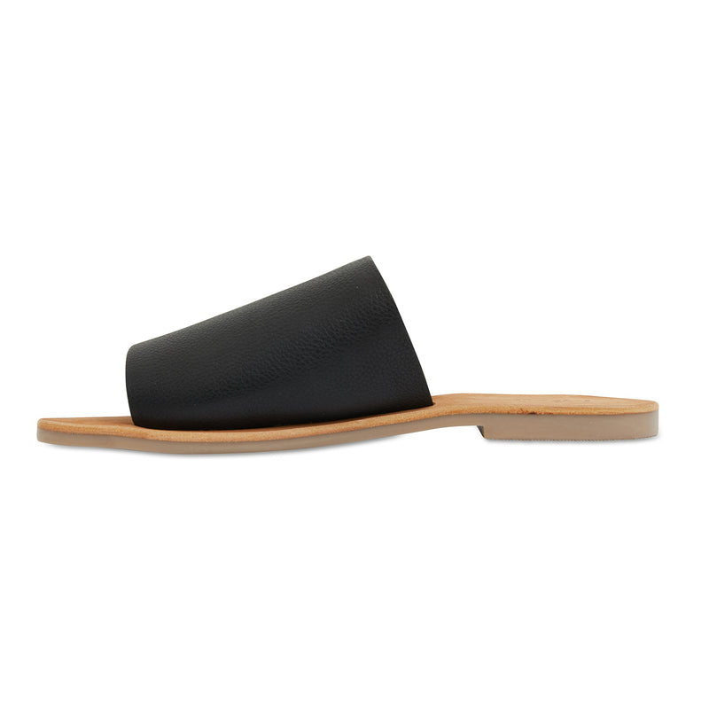 Molly black leather classic slides for women 2