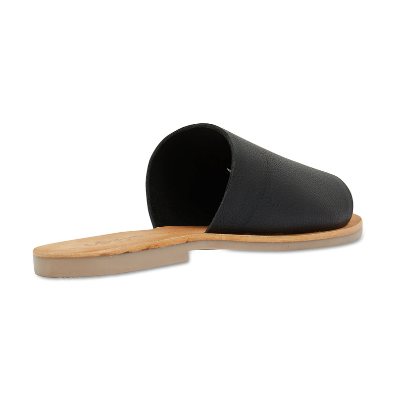 Molly black leather classic slides for women 3