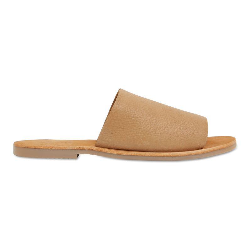 Molly honey tan leather classic slides for women