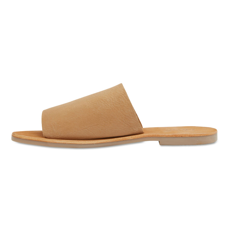Molly honey tan leather classic slides for women 2
