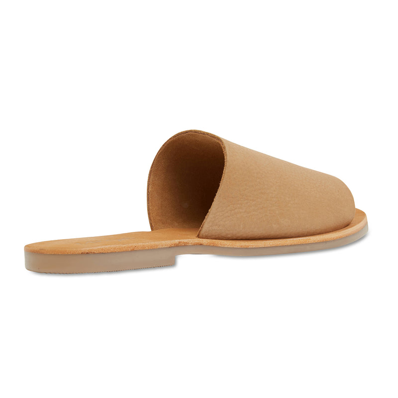 Molly honey tan leather classic slides for women 3