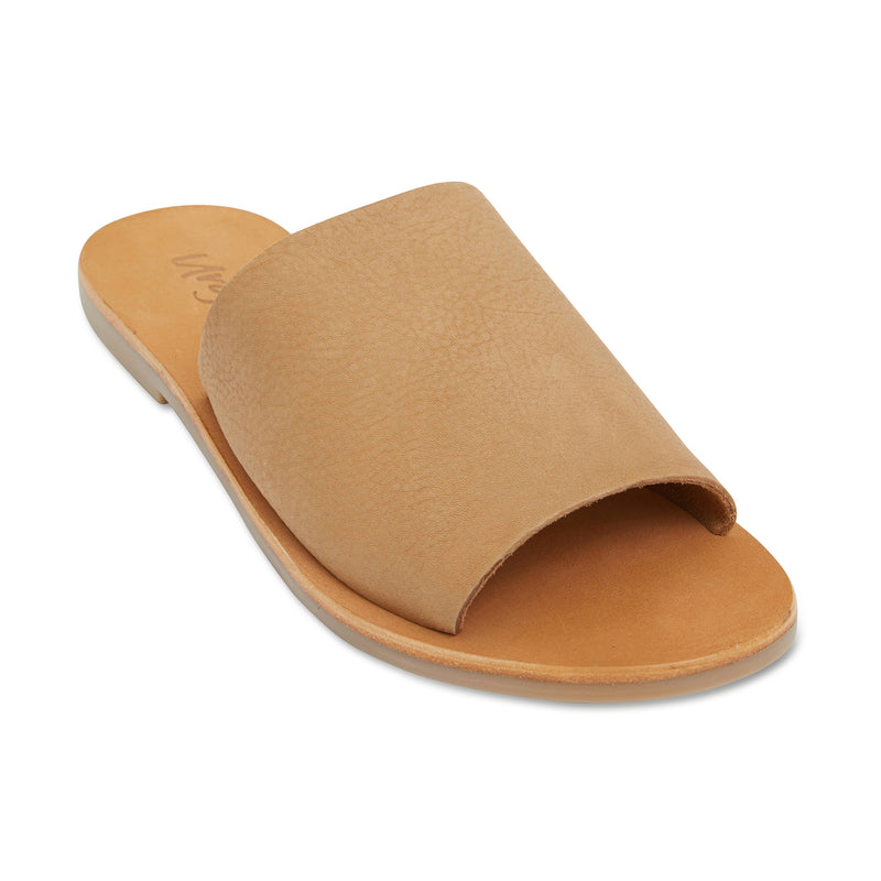 Molly honey tan leather classic slides for women 1