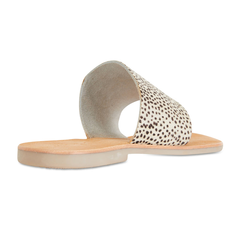 Maddie Cheetah leather thongs for women 2