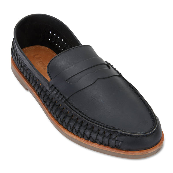 Marakesh Black leather slip on shoes for men 1